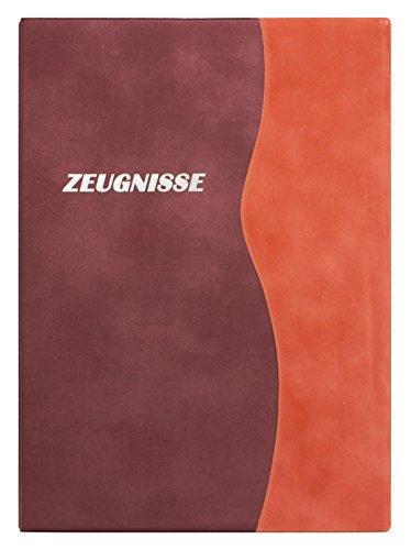 Zeugnismappe/Zeugnisringbuch DIN A4 mit 10 Hüllen / Farbe: velours terrakotta