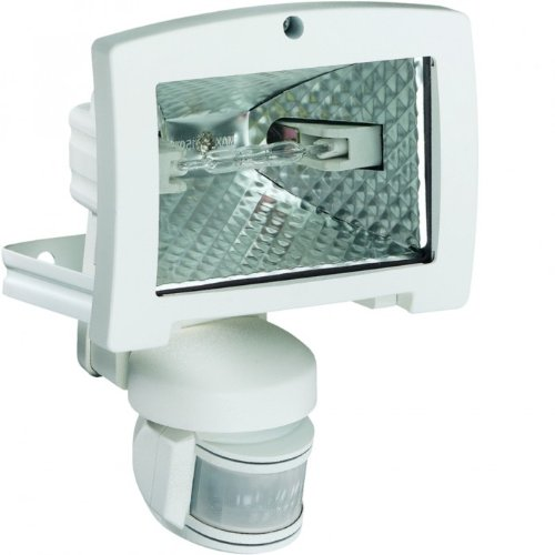 Hager 52542–Projecteur 400W détecteur IR 200° blanc