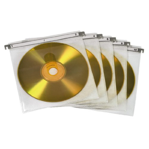 Hama CD/DVD Double Protective Sleeves (pack of 50 - white) lowest price