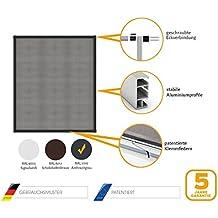 Protección Insectos Tela Mosquitera Ventana Marco aluminio Master Slim blanco, marrón o anthracite en diversos tamaños - Antracita, 150 x 160