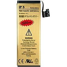 Donkeyphone - BATERIA INTERNA GOLD PARA IPHONE 5 5G DE RECAMBIO / REPUESTO DE LITIO CON ALTA CAPACIDAD 2680 MAH