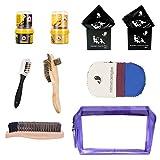 BONSYL Kit per la pulizia della scarpa, kit per lucidatura della pelle. Kit per la pulizia e la manutenzione della pelle.