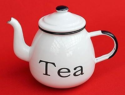 émail théière 22cm émaillée 582AB TEA blanc eaupot pot Coffee pot
