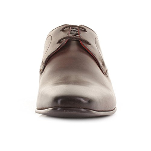 Base London Button Herren Schuhe Braun Braun