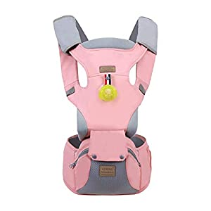 Baby Carrier, Sunzit Ergonomic Baby Carriers Breathable Mesh Adjustable Backpack with Hip Seat All Seasons Baby Carriers Backpack Newborn to Toddler - Pink   11
