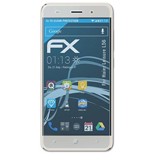 atFolix Schutzfolie kompatibel mit Haier Leisure L56 Folie, ultraklare FX Bildschirmschutzfolie (3X)