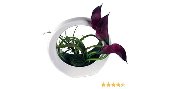 Seidenblume Kunstpflanze B1009 Deko Blumen künstliche Kunstblume mit Schale