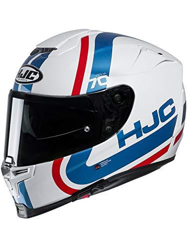 Hjc Rot Weiß Blau Rpha 70 Gaon Motorradhelm (Xx-Large, Weiß)