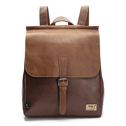 Retro PU Leder Vintage Rucksack Wanderrucksack Hiking Backpack Damen Herren Schultertasche PU Rucksack für Camping Reise Geeignet (Handtasche Vintage Rucksack)