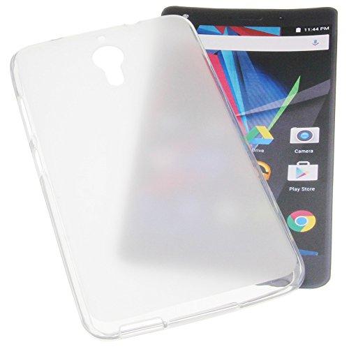 foto-kontor Tasche für Archos Diamond 2 Note Gummi TPU Schutz Handytasche transparent weiß