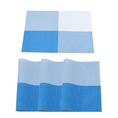 uxcell abwaschbare Platzdeckchen aus PVC, rechteckig, hitzebeständig, schmutzabweisend, Rutschfest, für Küche, Esstisch, Tischdekoration, 4 Stück #7 - 7 Stück Esstisch