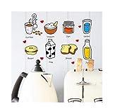 Lifme Maruoxuan Diy Entfernbare Wandaufkleber Restaurant/Küche / Küche Utensilien Tipp/Kühlschrank Aufkleber Küche Wandtattoos