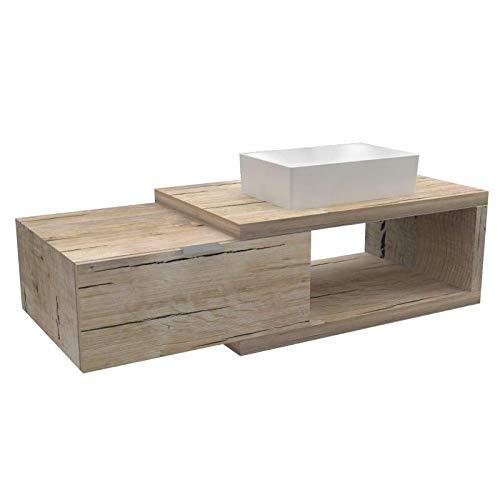 Ve.ca-italy arena 60 - mobile completo arredo bagno, design in diverse finiture e combinazioni design 100% made in italy (quercia sherwood)