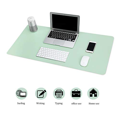 BUBM Pad per Scrivania Multifunzionale in Pelle PU Tappetino per Mouse da Gaming Grande Impermeabile per Ufficio e Casa, Dimensioni 80 x 40 cm (Verde)