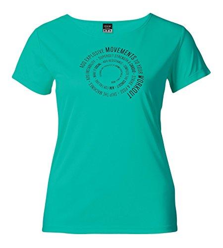 erima Damen Green Concept Funktions T-Shirt, Jade, 48, 208554