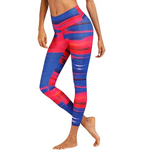 Damen Leggings Bunt,Elastische Yoga-Fitness Hose,Classics Stretch Workout Fitness Jogginghose,Trainingshose,Sporthose Langs,Skinny Leggings URIBAKY