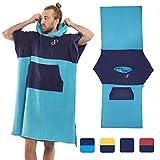 Poncho Surf Convertibile in grande asciugamano - 100% cotone di fascia alta, comodo e assorbente, con maniche, per uomo e donna, per la spiaggia, accappatoio taglia unica per sport acquatici.
