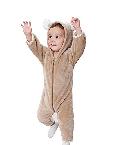 YP® Baby Kleidung Baby Overalls Climbing Kleider Neugeborenen warmen Bademantel , brown , 80cm