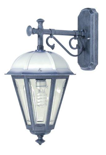 BOSTON B321.1D_NBL - Splendida Lanterna media in alluminio a parete cappello laccato Bianco/Blu Disponibile in altri colori - Prodotta in Italia da Valastrolighting