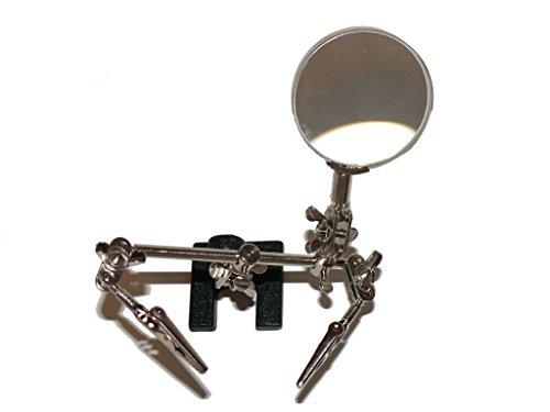 Dritte Hand mit Lupe 62 mm - sehr robust - für feinste Lötarbeiten, Modellbau und Miniaturmalerei