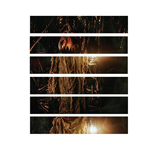 Heetey Halloween Dekoration Halloween 3D Aufkleber Crow Tombstone Staircase Sticker Wasserdichter Wandaufkleber PVC Wall Sticker Abnehmbare Wandaufkleber Aufkleber Home Dekorationen (Bane Katze Kostüm)