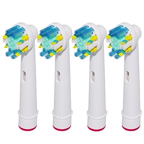 4 Stk. Floss Action Tiefenreinigung Aufsteckbürsten kompatibel mit Oral-B elektrischen Zahnbürsten. Ersatz für EB25 Oral-B Tiefenreinigung Aufsteckbürsten. Voll kompatibel mit Oral-B Vitality, Professional Care und anderen elektrischen Zahnbürsten. Ersatzbürsten von