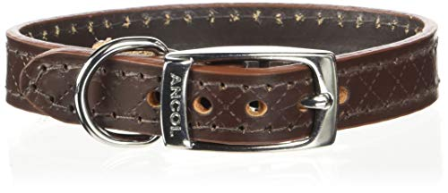 Ancol Heritage Hundehalsband, Diamant, X-Small/Medium/Large/Small, Tan/Schwarz/Rot/Braun -