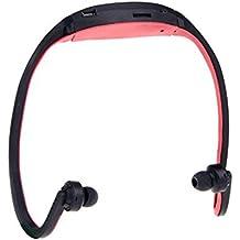 MOKE Deportes Mp3 FM estéreo Función de radio MP3 Deportes Auriculares para correr, montar en bicicleta, y viajar MEMORIA EXPANDIBLE UP 8GB (sin memoria / tarjeta SD) (rojo)