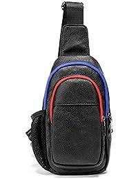 Fonxoy-Backpack Bolsos Cruzados Bolso Pequeño De Cuero De Calle Para Hombres Bolso Pequeño Bolso De Bandolera Pequeña Mochila…
