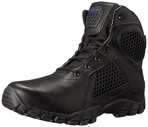 Bates Men's 6 Inch Strike Side Zip Waterproof Tactical Boot, Black, 8 M US