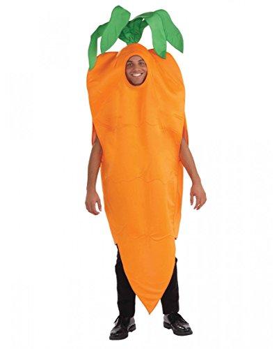 Horror-Shop Knackiges Oranges Karotten Unisex Kostüm für Gruppen am ()