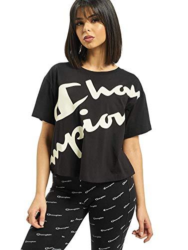 Champion Damen T-Shirts Crop schwarz S