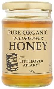 Littleover Apiary Pure Organic 'Wildflower' Honey 340 g (Pack of 4)
