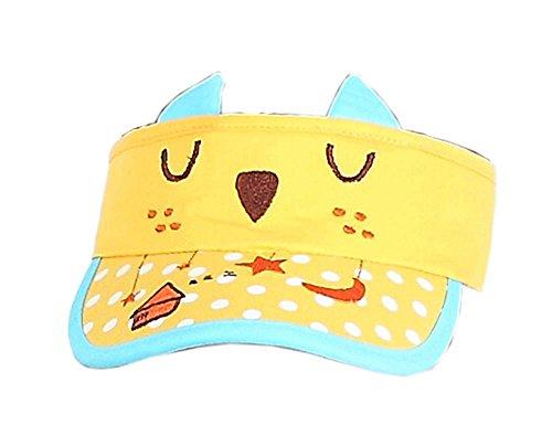 Hut Kätzchen Sommer Mütze ohne Top 2-4 Jahre (Gelb) ()