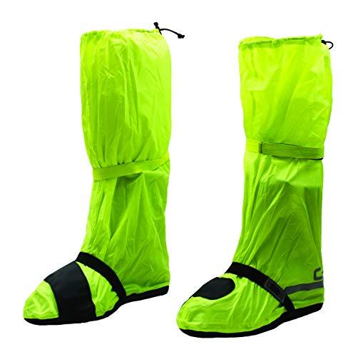 OJ - Fluo Copri Scarpa 4 Stagioni 100% Impermeabile Compatto e Tascabile, Giallo Fluo, M