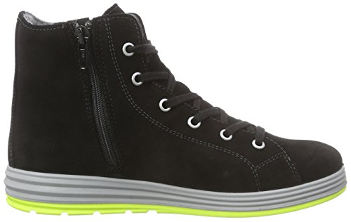 Ricosta Jan Jungen Hohe Sneakers Schwarz (schwarz/kiwi 099)