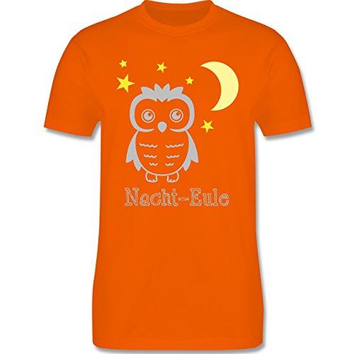 Eulen, Füchse & Co. - Nacht-Eule - Herren Premium T-Shirt Orange