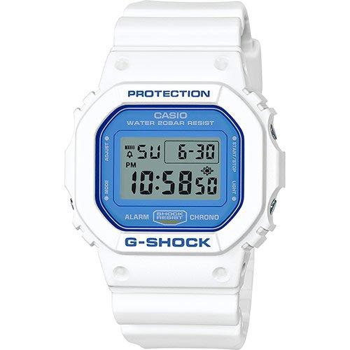 Casio G-shock Herrenuhr Digital Quartz Kunststoff Weiß DW-5600WB-7ER (Casio G-shock Herren-weiß)