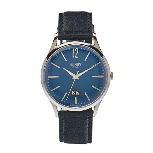 Henry London Knightsbridge Analog Quarz Unisex-Armbanduhr Leder HL41 - JS-0035