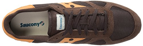 Sneaker Saucony Shadow in suede marrone e arancione Brown/Orange