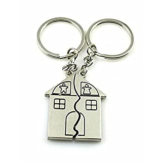 SAMGU Couple Gift Romantic House Keychain Personalized Souvenirs Lanyard Keyring Valentine's day Love Key Fob