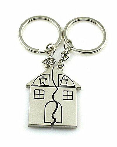 SAMGU Paar Geschenk Romantisches Haus Keychain Personalized Souvenirs Lanyard Schlüsselanhänger Valentinstag Liebes Schlüsselanhänger