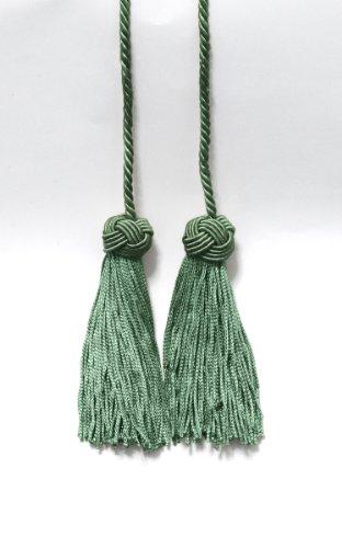 Lot de 2 foncé Vert d'eau double Tassel/pompon Cravate avec 9,5 cm Pompon/propagation 68,6 cm, style # Bhct, couleur : H2