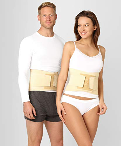 ®BeFit24 Rückenstütze Lendenwirbel für Herren und Damen - Ischias-Rückenbandage - Rückenstabilisator - Stützgürtel - Bauchgurt - Rückenstützgürtel - Back Support - [ Size 6 ]