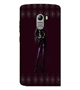 PrintDhaba Girl with Attitude D-3569 Back Case Cover for LENOVO VIBE X3 c78 (Multi-Coloured)