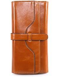 Heekpek® Billetera Mujer Carteras de Piel Genuina Carteras de Cuero Genuino RFID