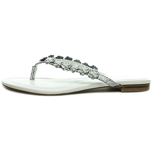 Marc Fisher Feather Synthétique Tongs white