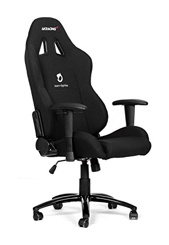 AKRACING Team Dignitas Edition – Pro – Silla (Negro, Color blanco, Negro, Color blanco, Tela, Tela, 5 wheel(s), 150 kg)