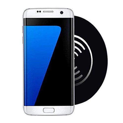 Ouneed® Acryl QI Wireless Ladegerät Lade Pad Matte für Samsung Galaxy S7 / S7 Edge und andere Smartphone,Tischladestation, Dock für Handy (schwarz) (Htc Lade-pad)