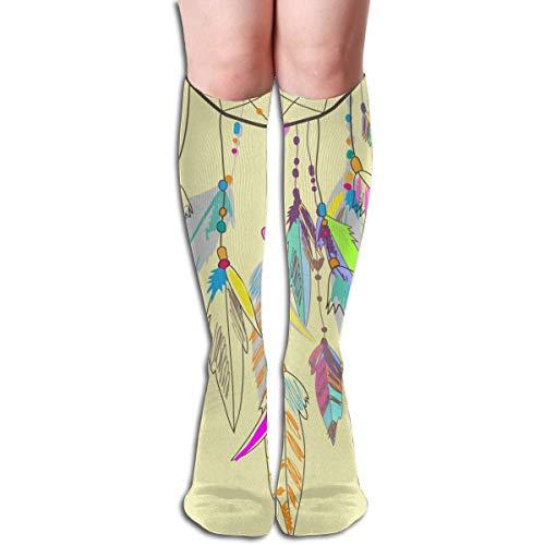 CVDFVFGB Long Socks, Dream Catcher Knee High Socks, Unisex Tube Compression Thigh Sock Crew Athletic Football Stockings